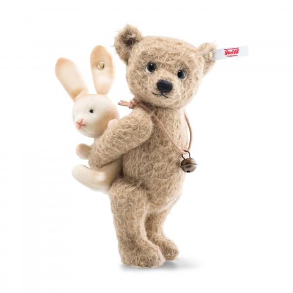 Steiff 674532 Teddybär Emil 18 cm mit Häschen