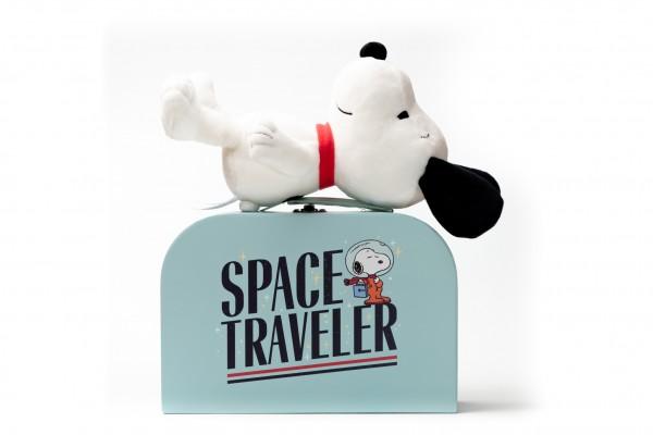 Teddy Hermann Snoopy 23 cm im Space Traveler Koffer