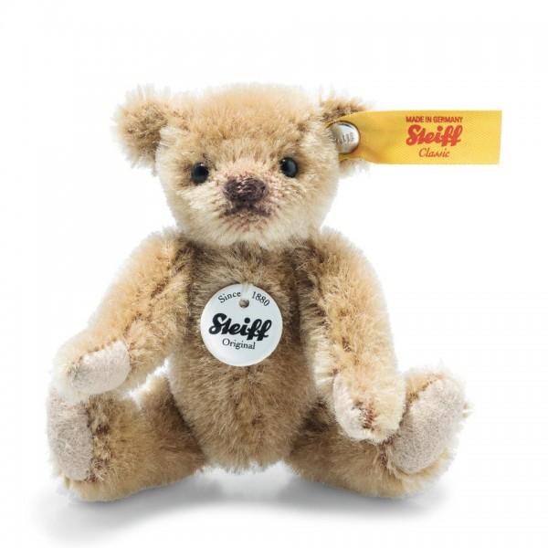Steiff 028168 Mini Teddybär 9 cm Mohair hellbraun
