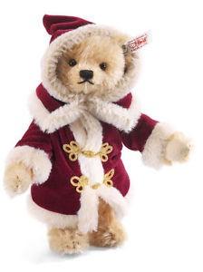 Steiff 036163 Teddybär Weihnachtsmann Mohair 23 cm