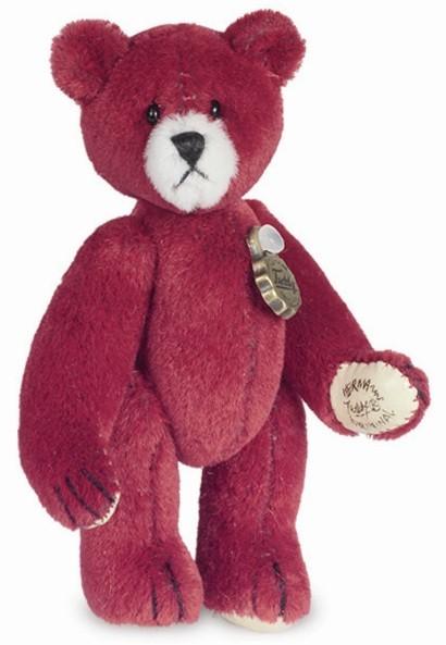 Teddy Hermann 153948 Teddy Rot Miniatur 6 cm