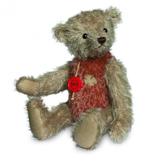 Teddy Hermann 166283 Teddybär Vintagebär beige/rot 30 cm