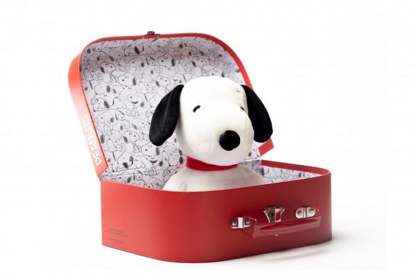 Teddy Hermann Snoopy 23 cm im Classic Koffer