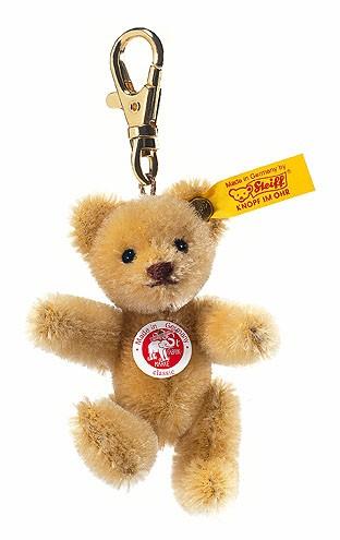 Steiff 039089 Schlüsselanhänger Mini Teddybär Mohair blond 8 cm