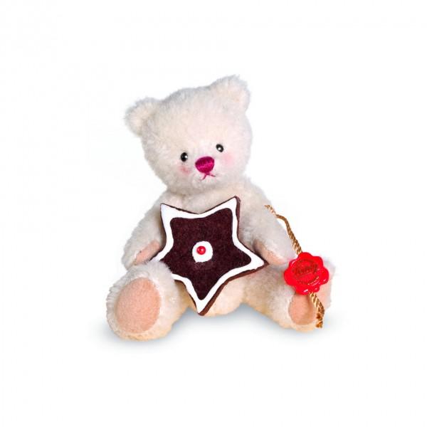 Teddy Hermann 117087 Teddybär Weihnachtsbärchen mit Lebkuchenstern 14 cm
