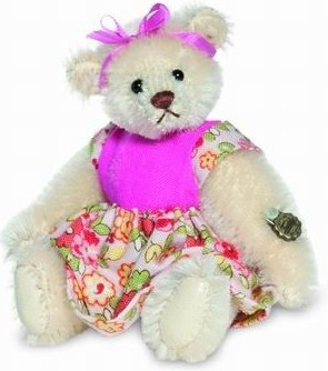 Teddy Hermann 157182 Teddybär Anita Miniatur Mohair 9 cm limitiert