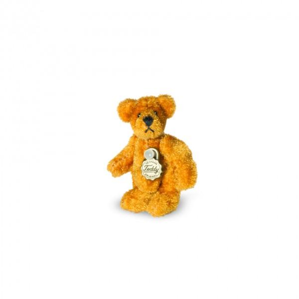 Teddy Hermann 162964 Teddy gold Miniatur 4 cm