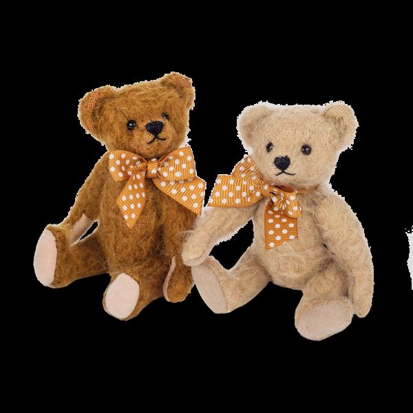Teddy Hermann 154723 Teddybär Antikbär braun 11 cm