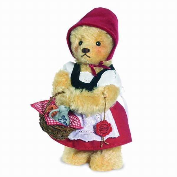 Teddy Hermann 118343 Teddybär Rotkäppchen Mohair 26 cm limitiert