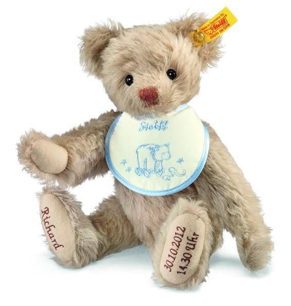 Steiff 001765 Teddybär zur Geburt Mohair beige 27 cm