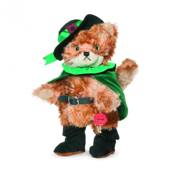 Teddy Hermann 118374 Gestiefelter Kater orange Mohair 30 cm