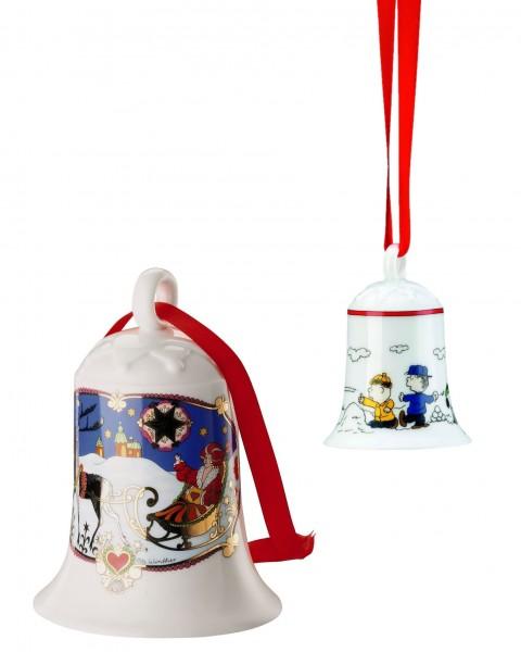 Hutschenreuther Set Jubiläumsglocke 40 Jahre 1978 - 2017 + Weihnachtsglocke Snoopy
