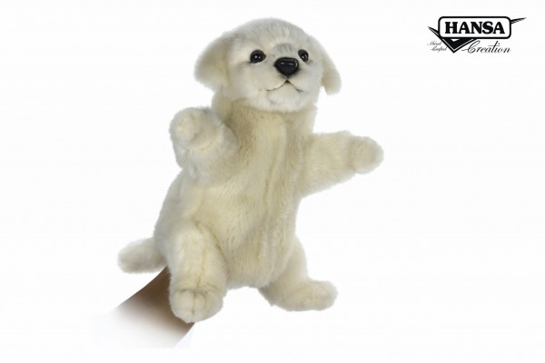 Hansa 7338 Maremma Hund Handpuppe 28 cm