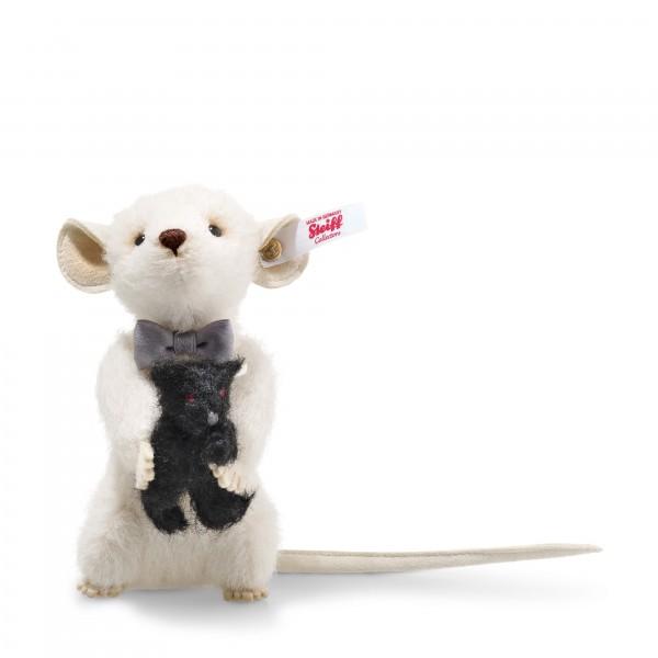 Steiff 006852 Peky Maus 12 cm mit Teddybär