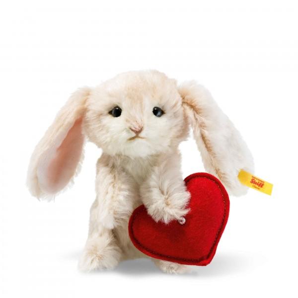 Steiff 033506 Hase mit Herz 14 cm