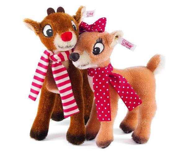 Steiff 682346 Rudolph and Clarice Mohair 18 cm