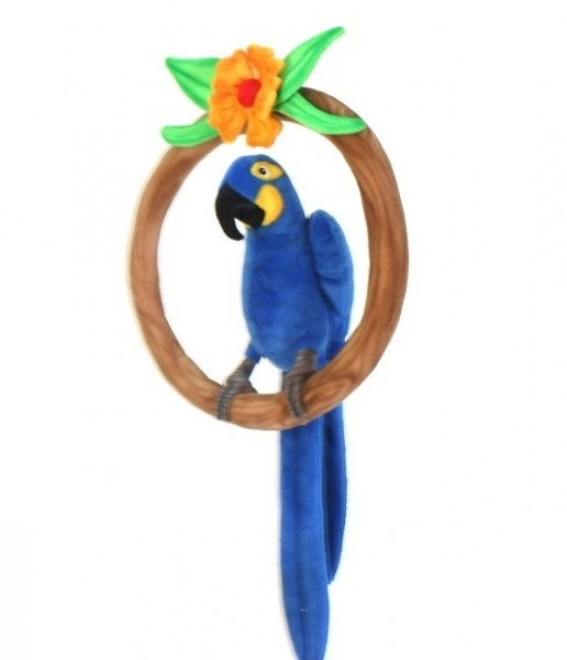 Hansa 5691 Hyazinth-Ara Papagei im Ring 32 cm