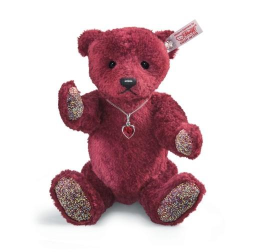 Steiff 035388 Rubin Teddybär Seidenplüsch rot 25 cm