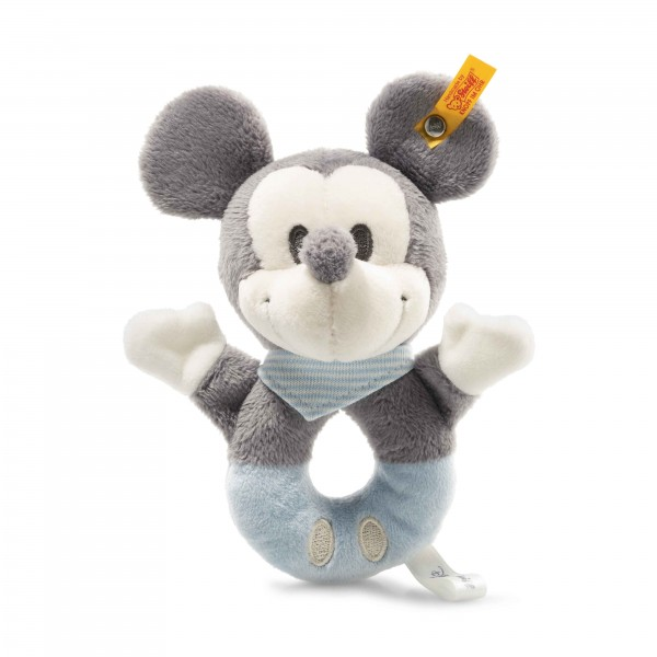 Steiff 290046 Mickey Mouse Greifring mit Rassel 13 cm