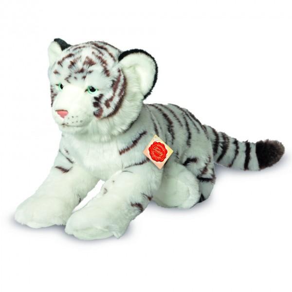 Teddy Hermann 904663 Tiger weiß liegend 40 cm