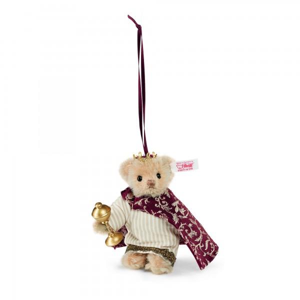 Steiff 034138 Teddybär Melchior Ornament Mohair 10 cm