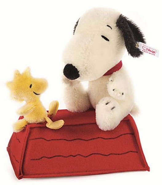 Steiff 682360 Snoopy and Woodstock on Rooftop Mohair 23 cm