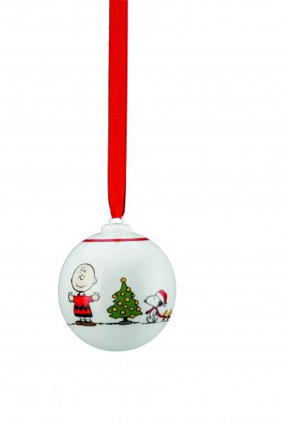 Hutschenreuther PEANUTS Weihnachtskugel Snoopy und Charlie Brown