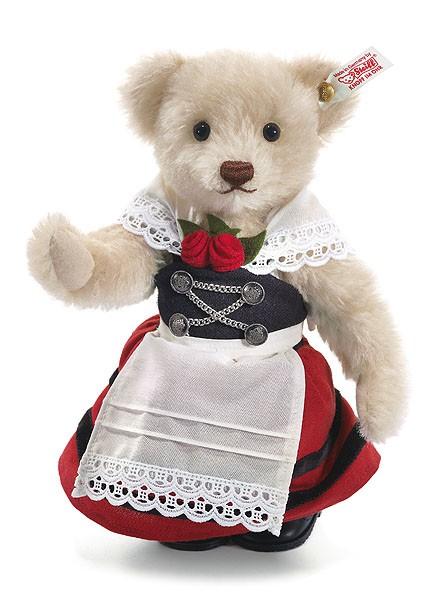 Steiff 657184 Teddybär Trachtenmädchen Liesel Mohair 23 cm