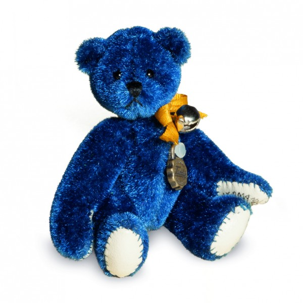 Teddy Hermann 154426 Teddybär Miniatur Nachtblau 6 cm