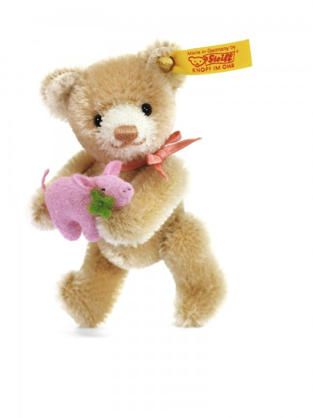 Steiff 039836 Mini Teddybär Glücksbringer Mohair 9 cm