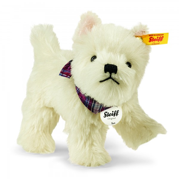Steiff 033513 Sam West Highland Terrier 21 cm