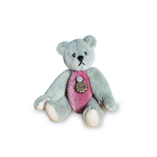 Teddy Hermann 154334 Teddybär grau/rosé 5,5 cm