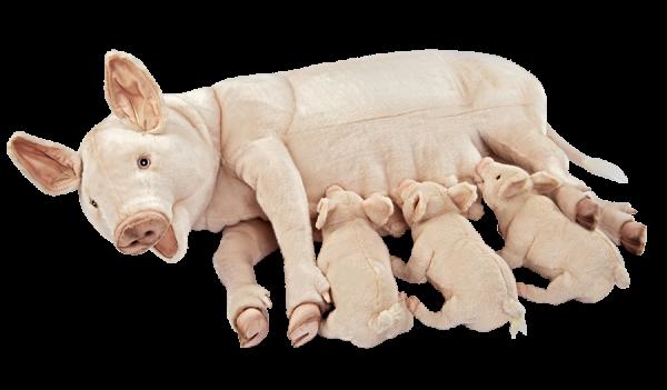 Hansa 7234 Schwein Sau 106 cm mit Ferkeln