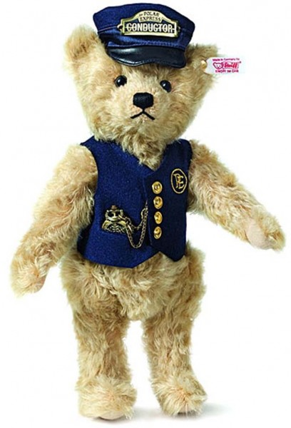 Steiff 682315 The Polar Express Conductor Teddybär Mohair 30 cm