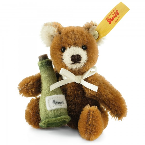 Steiff 028908 Mini Teddybär Sektflasche 10 cm Mohair