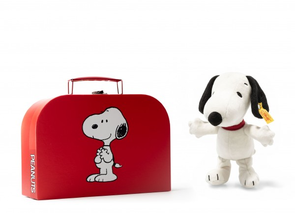 Steiff 658259 Snoopy 20 cm im Classic Koffer