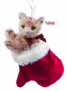 Steiff 682063 Kitten in a Mitten Ornament Mohair 15 cm USA