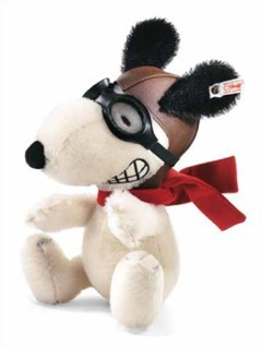 Steiff 682070 Snoopy Flying Ace Mohair 22 cm USA