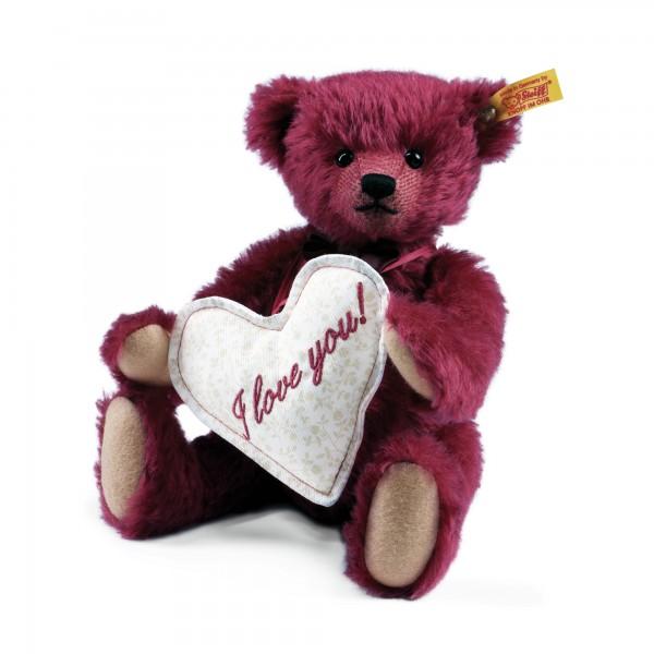 Steiff 000249 Florian, der Liebesbotschafter Teddybär Mohair 27 cm