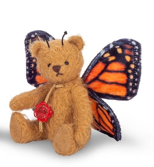 Teddy Hermann 117483 Teddybär Schmetterling orange 14 cm