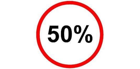 50 % Aktion