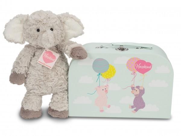 Teddy Hermann 938835 Elefant Smartie 27 cm im Koffer