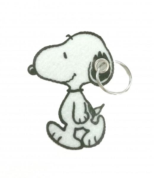 Peanuts Snoopy walks Filz-Schlüsselanhänger 8 cm