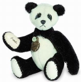 Teddy Hermann 157694 Teddybär Panda Miniatur 6 cm