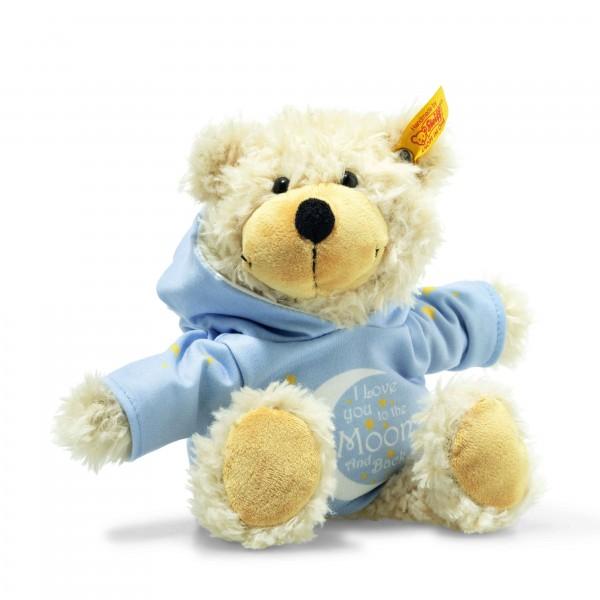 Steiff 012334 Charly Love You Schlenker-Teddybär mit Kapuzenpullover 23 cm