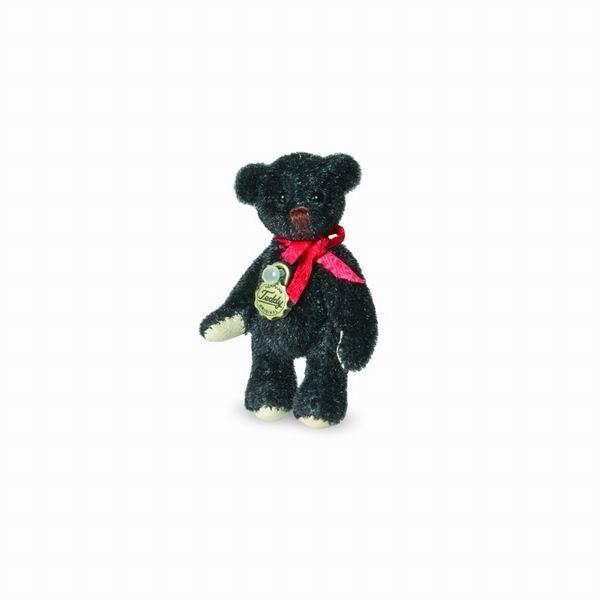 Teddy Hermann 157793 Teddybär schwarz Miniatur 4,5 cm