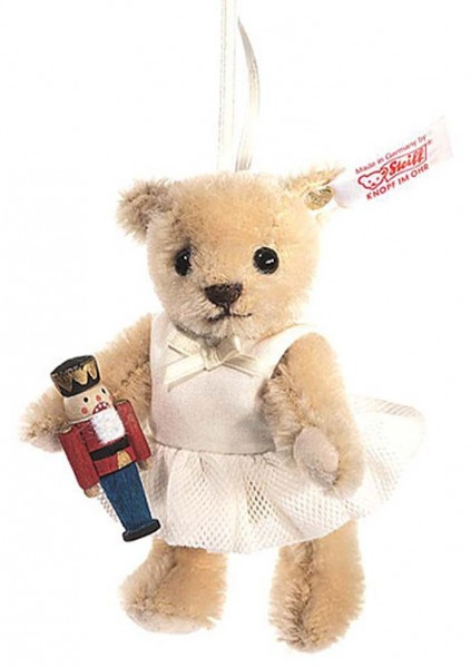Steiff 682353 Clara, the Nutcracker Ornament Teddybär Mohair 10 cm