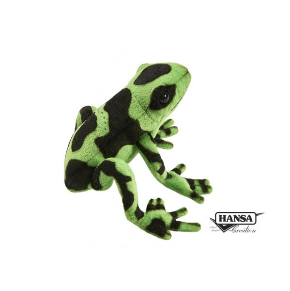 Hansa 5224 Frosch Grün/Schwarz 17 cm