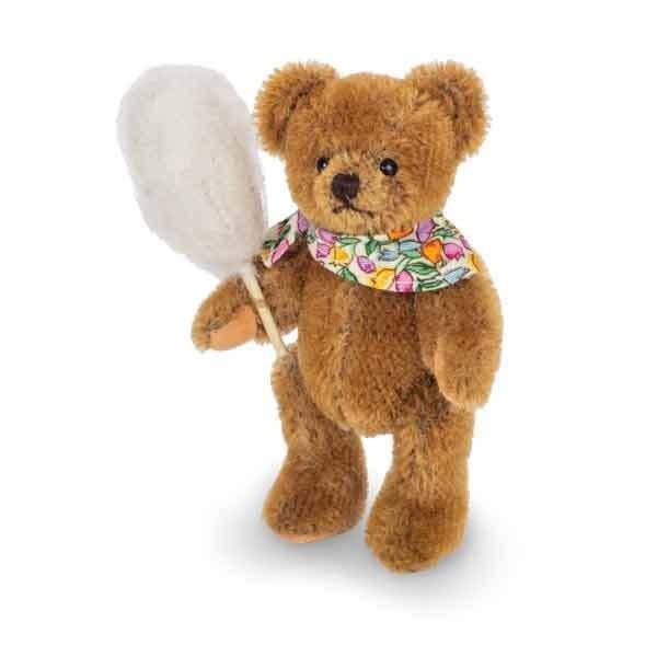 Teddy Hermann 154761 Teddybär mit Zuckerwatte 10 cm