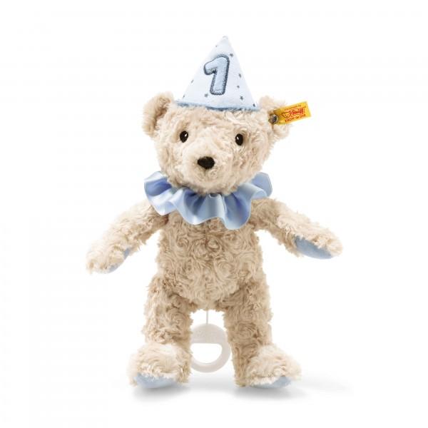 Steiff 240881 1. Geburtstag Teddybär Junge 26 cm mit Spieluhr